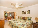 The 1 bedroom apartment is located on the bottom floor of the main house