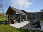Beautiful lounge/diner with bi-fold doors to the outside patio