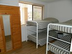 New mattresses, while the bunk beds make it great for the kids on a family holiday.