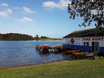 Boat, Canoe & Kayak hire is directly across the road from the apartment
