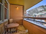 Sip a glass of wine from the balcony and admire mountain views.
