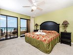 Gulf front master bedroom has views that will steal your breath