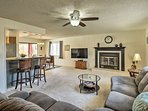 Spread out in the open living room after a day on the lake just 2 miles away!