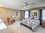 Claim the master bedroom for a home-away-from-home experience.
