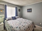 Both bedrooms come with queen-sized beds.