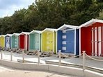 Beach Huts at Colwell.
