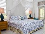 West bedroom opens to verandah