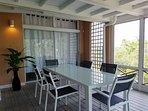 Dining area on verandah