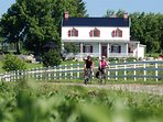 Enjoy beautiful landscapes on Ile d`Orleans while you make cycling