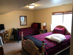 Downstairs Den with Queen and Twin Bed and Full Bath