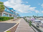 Your residence is located right on the marina.