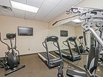 Keep in shape during your holiday in the fitness centre.