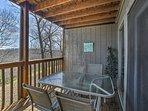 Enjoy a meal alfresco on the furnished deck.