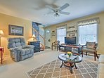 After adventure-filled days, unwind in the 3-bedroom, 2-bath home.