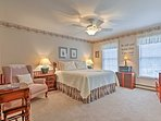 Sleep will come  easy on the queen bed in Bedroom 3.