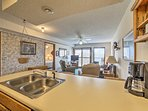 You'll feel like an Iron Chef as you slice and dice on the expansive countertops.