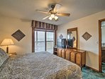 The master bedroom is perfect for couples.