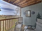 With views of the Ozarks, the deck is both peaceful and gorgeous.