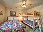 The queen bed will usher you right to sleep.