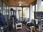 WORK OUT IN THE MAGNOLIA TREE HOUSE GYM!