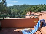 small terrace with montain views-SA PUNTA COSTA BRAVA