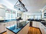 Chef's Kitchen with Center Island & Breakfast Bar, Professional Grade Appliances