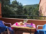terrace with montain views in the first floor-SA PUNTA COSTA BRAVA