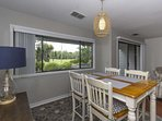 Comfortable seating for 4 at the dining table