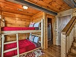Head downstairs to utilize the bunk room.