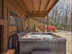Soak away the day in the hot tub waters.