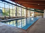 Indoor swimming pool at The Pines Condos
