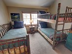 Great kid room with twin bed and trundle bed. WIth bunk beds.