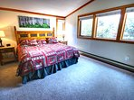 Spacious Master Bedroom located upstairs