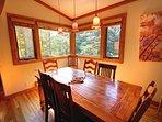 Beautiful formal dining area seats 8!