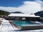 Outdoor Heated Pool at Tennis Townhomes