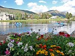 Summertime activities on Keystone Lake