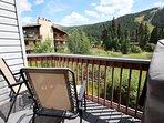 Private balcony with ski mountain views!