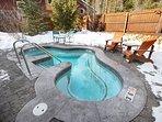 Outdoor hot tub at Ski Tip Ranch