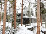 Snowy view of private home!