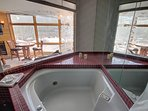 Private jetted tub and shower