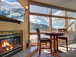 Amazing mountain views from this River Bank Lodge condo!