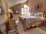 Large master bedroom with reading nook in the corner if you are an early riser. crack open the blinds and window for...