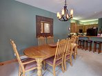 Large dining area for holiday meals or enjoying your families favorite meal.