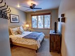 The comfortable master bedroom
