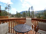 Your private deck with ski mountain views!