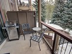 Large patio for grilling in the winter or summer!