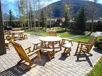 Outside Patios & Courtyard at Lodgepole