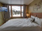 Second bedroom with full size bed and great views of West Keystone.