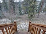 Nice woodland views of the back porch