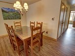 Dining area for holiday meals to gather around.